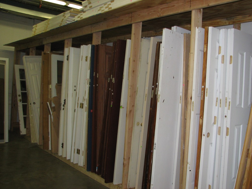 Some of the doors available at Habitat's ReStore