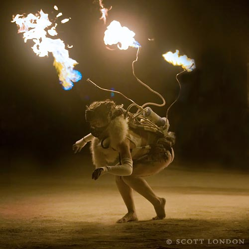 Time to step it up, Mummers. (Copyright 2009, Scott London and Burning Man)