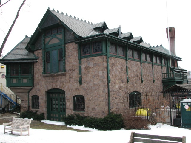 Frank Furness designed the Undine Barge Club building, Boathouse #13, in 1882.
