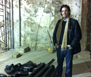 Developer David Waxman is taking an environmentally-friendly approach to rebuilding the 1860s structure in Manayunk.