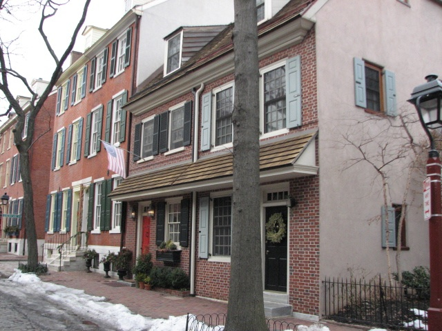 Well-restored 18th and 19th century houses populate most of the Society Hill neighborhood.