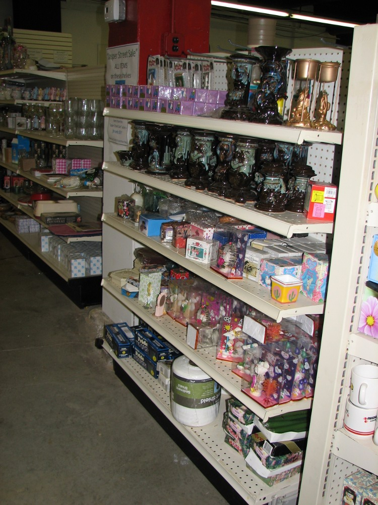 Part of the donated dollar store inventory