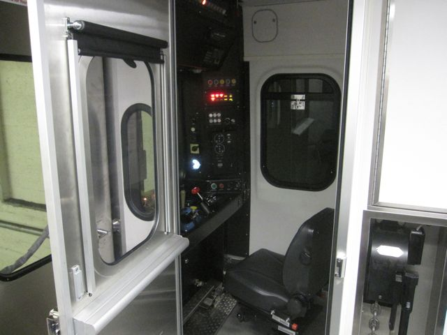 Engineer's compartment on Silverliner V