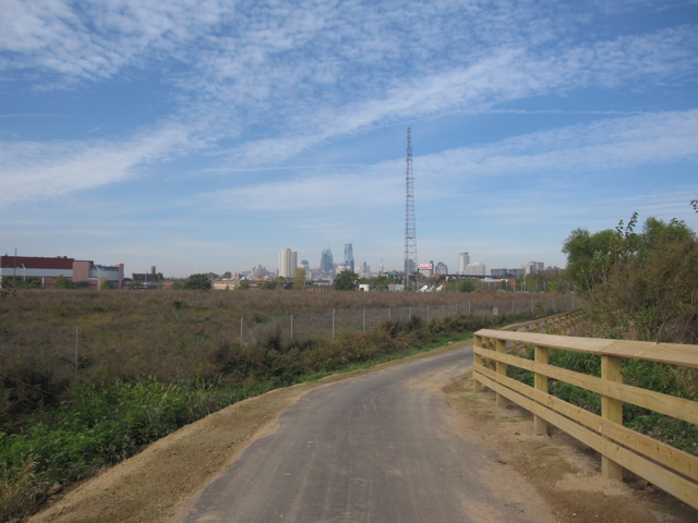Foxwoods overgrown South Philly site from river trail