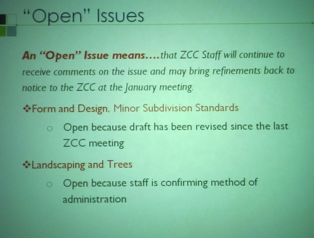 ZCC Meeting: Red-line draft code open for comment; developers and civics push back on deadline
