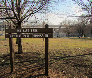 Plans are in the works to add a playground to Inn Yard Park on Ridge Avenue in East Falls. (Megan Pinto)