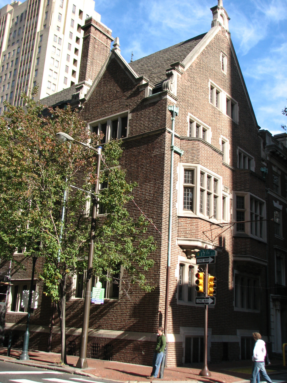 The medieval style mansion at 17th and Locust was designed by Frank Miles Day.
