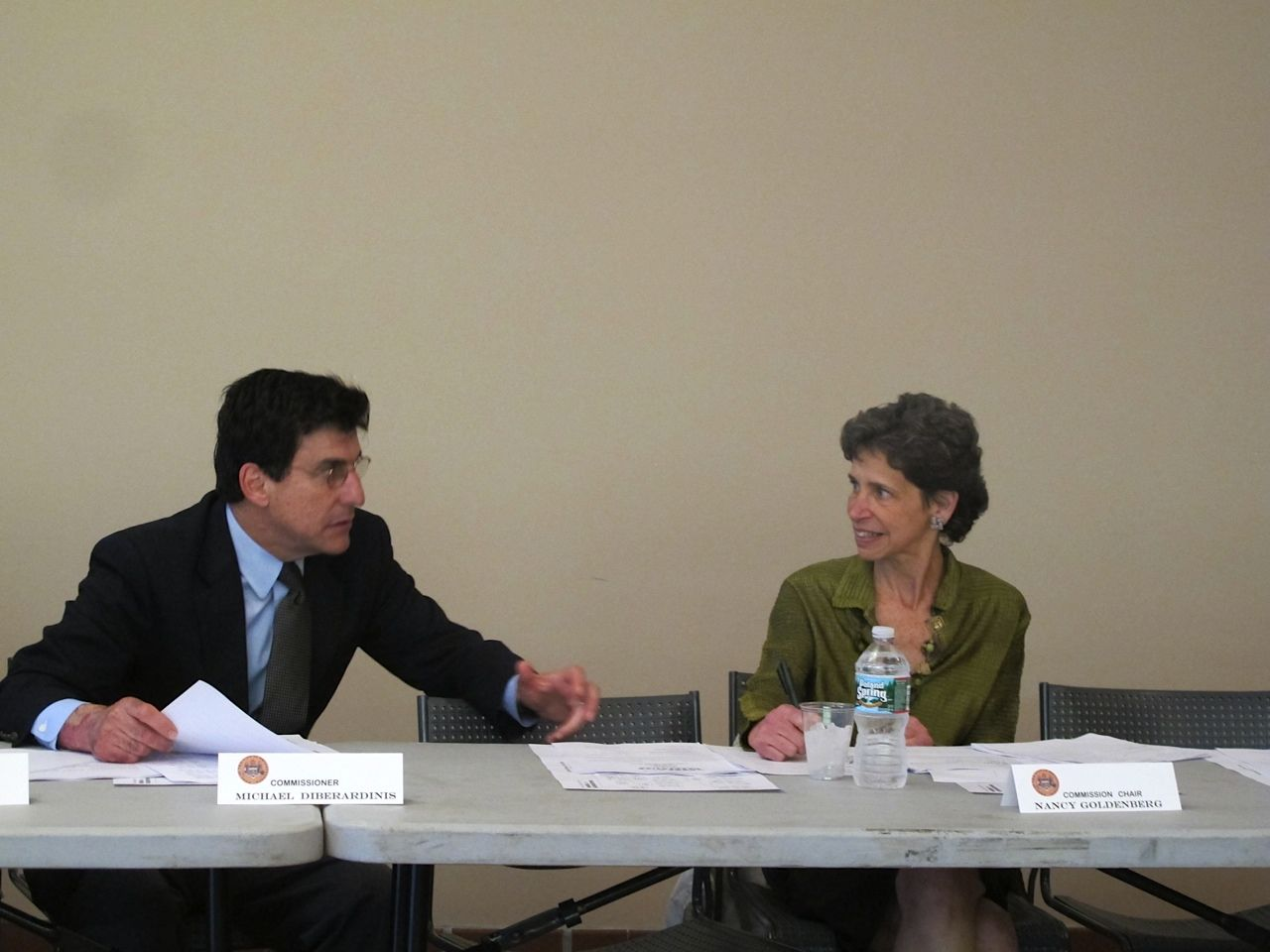 DiBerardinis and Commission Chair Nancy Goldenberg