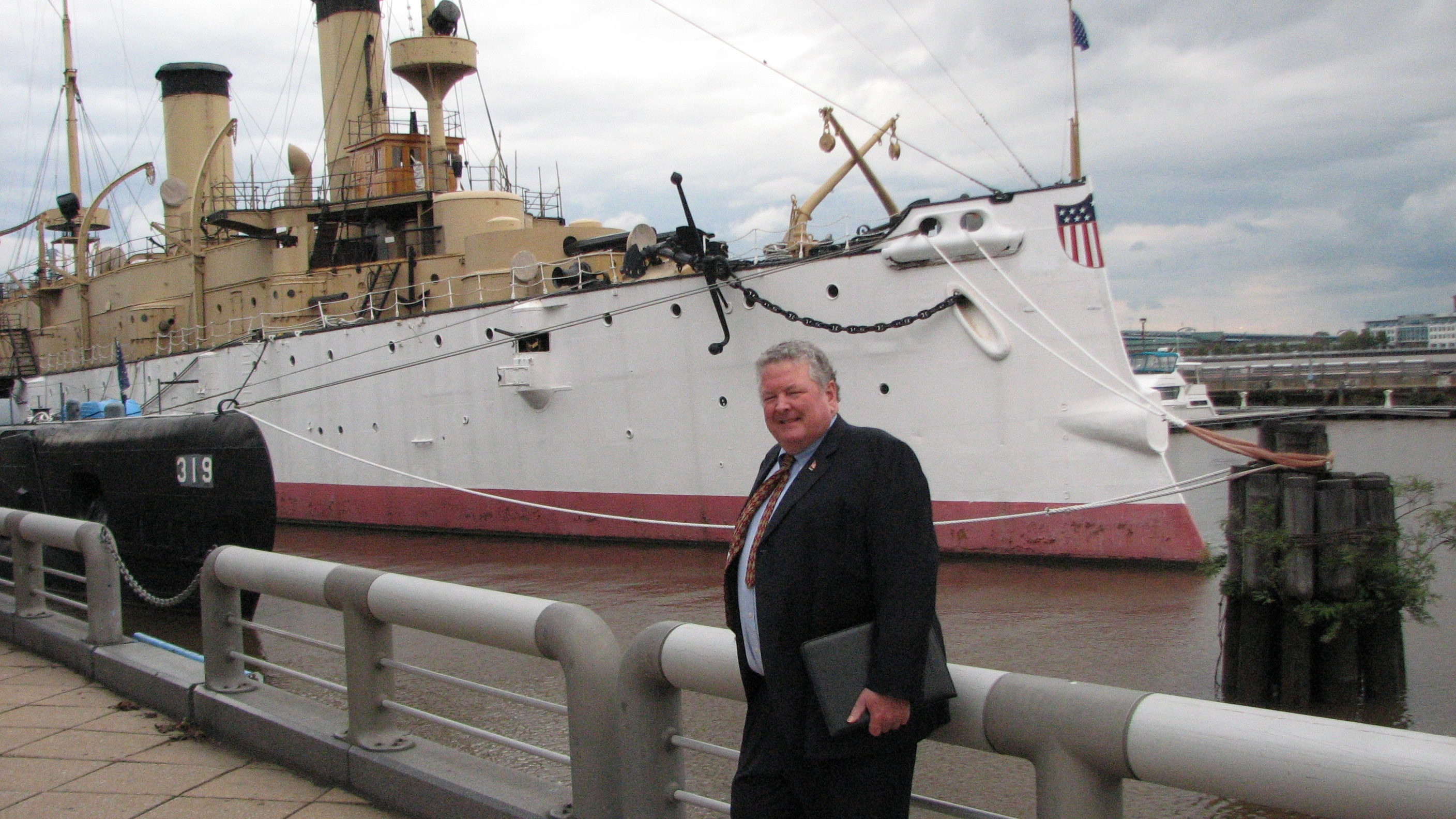 Retired Navy office Glenn Porter has a fundraising plan for the historic ship docked at Penn's Landing.