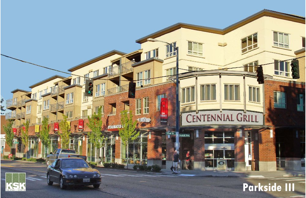 A rendering of the Parkside mixed-use development