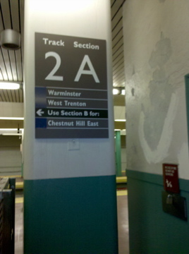 SEPTA installed new station signage at Suburban Station over the weekend.