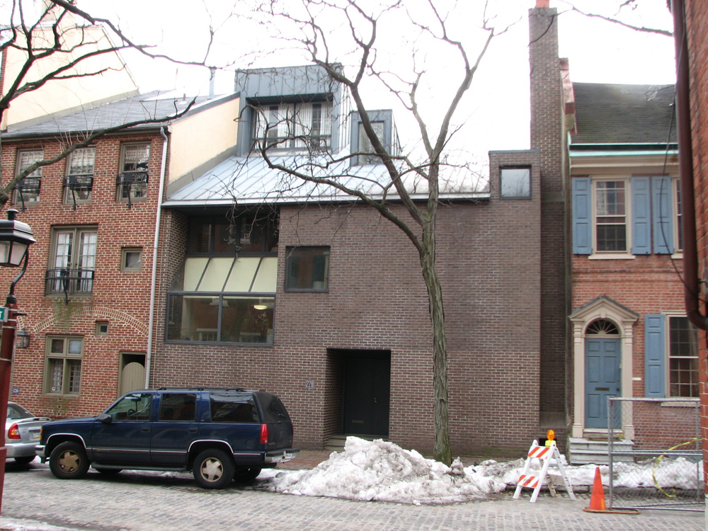 The Franklin Roberts House, 230 Delancey, is a more somber deconstruction of the Colonial style.