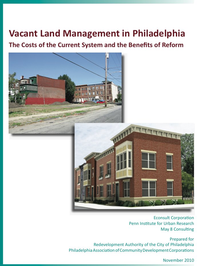 RDA vacant land report released