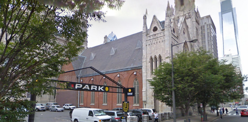 A plan to park a garage next to historic church