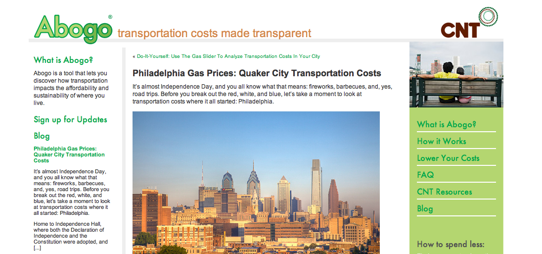 Center for Neighborhood Technology: How Are Gas Prices Affecting Philadelphia Area Transportation Costs?