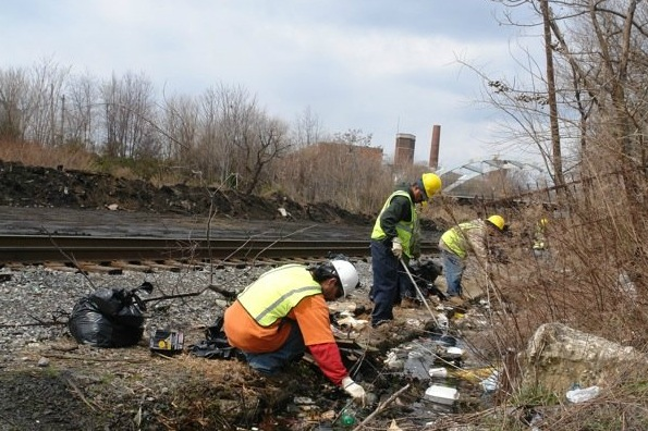 Neighbors, City and Conrail take first steps to clean up Kensington Wasteland