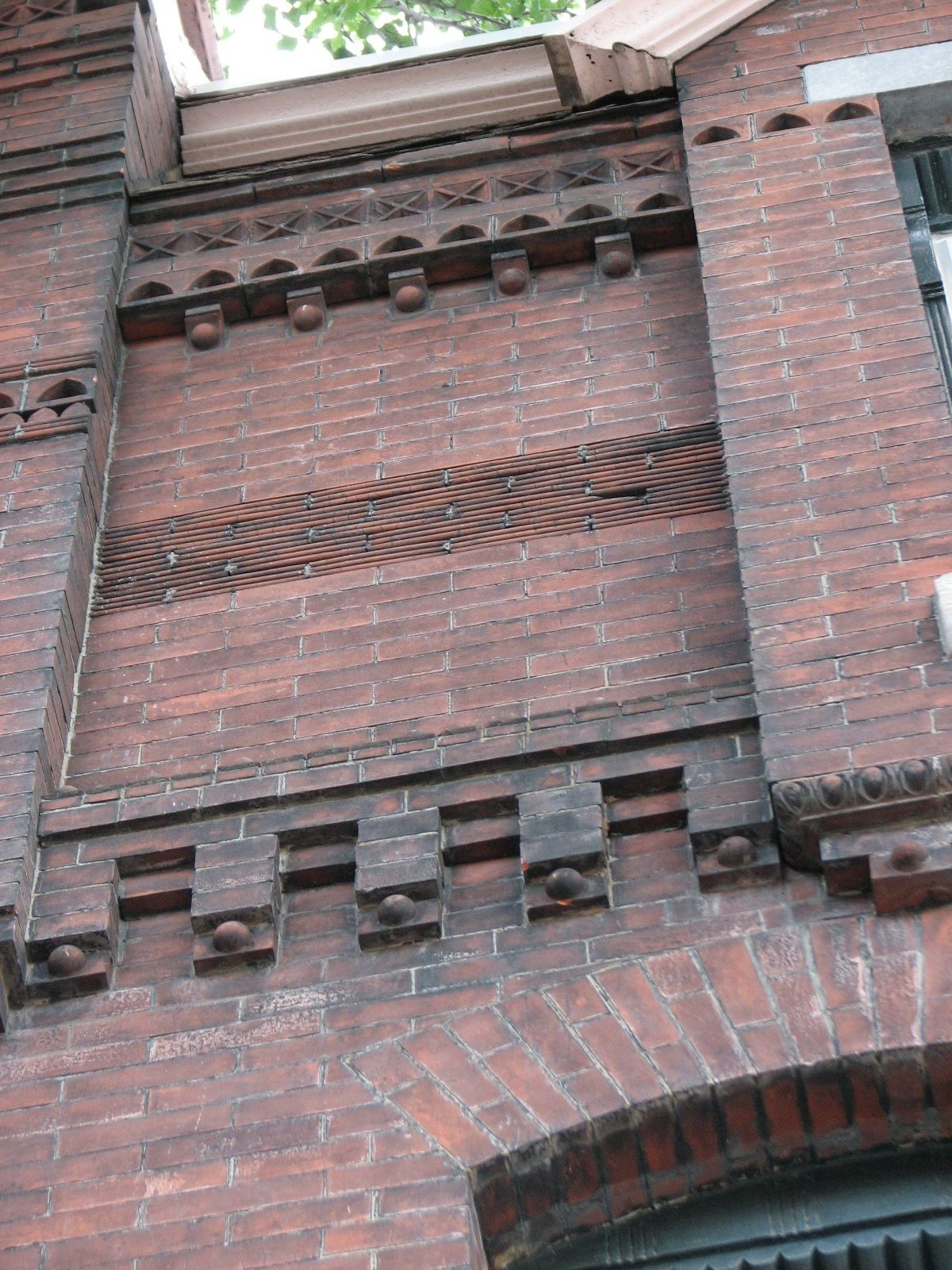 A variety of fine masonry work is found throughout the old Windsor Square.