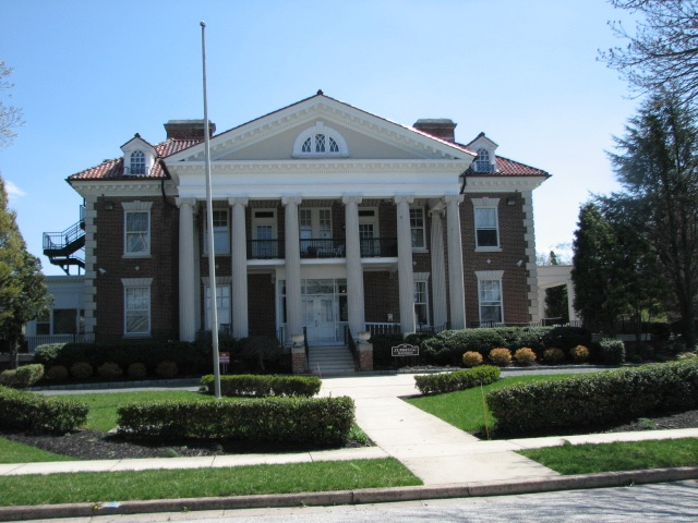 The Zurbrugg Mansion, built in 1910 by Furness, was saved by Delanco Township and restored as senior citizen apartments.