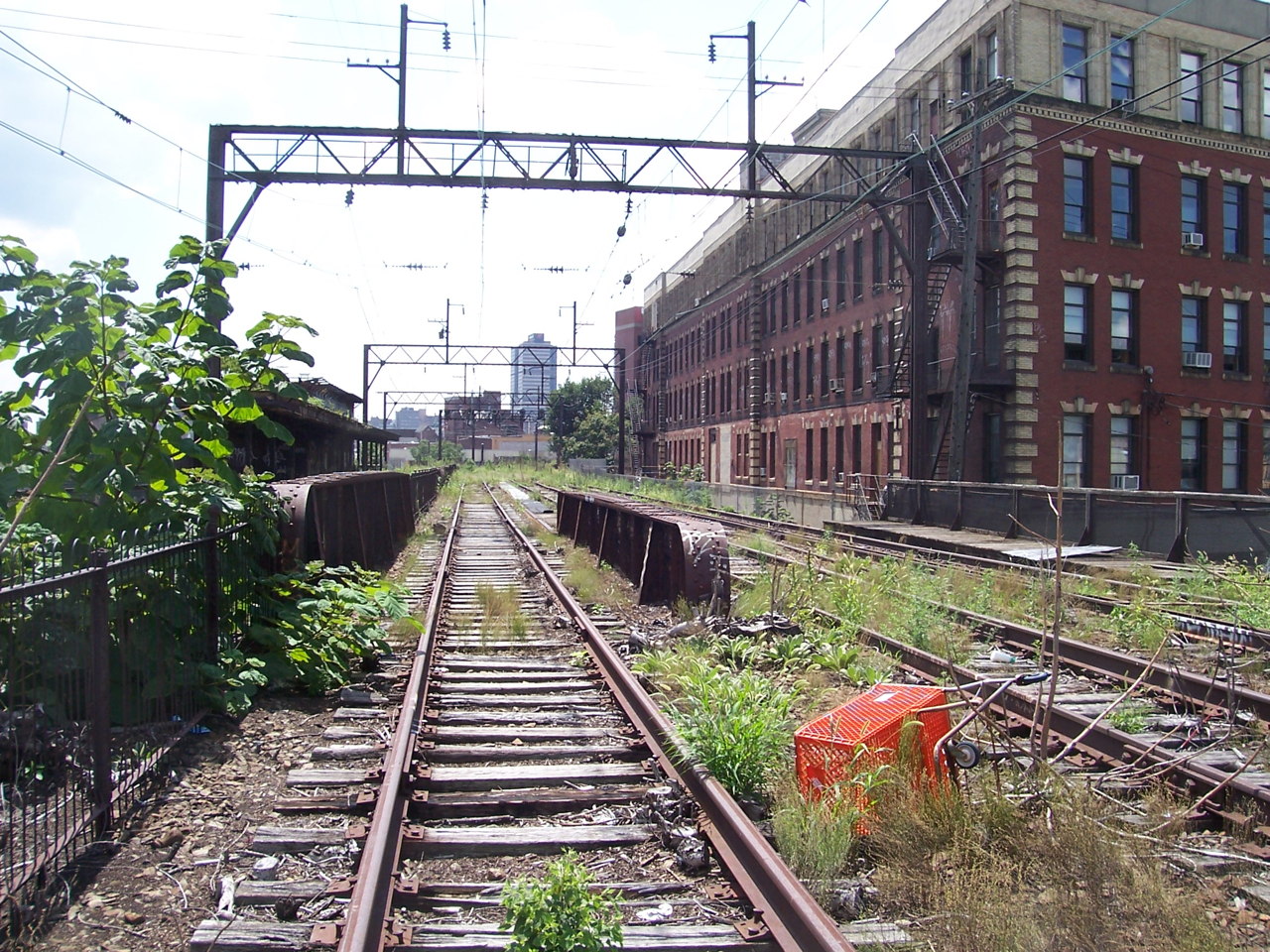 View from atop the vacant Reading Viaduct at around 10th and Spring Garden Streets