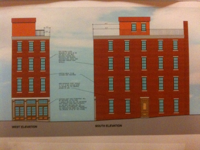 Architect's rendering of Bouvier building