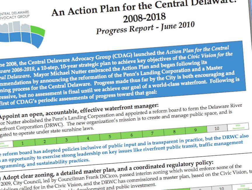 CDAG issues waterfront progress report