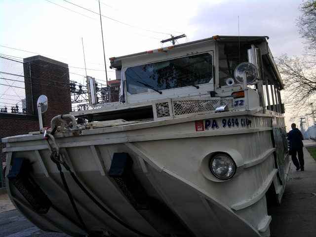 The Duck Boat that was used to give the first audio tour.