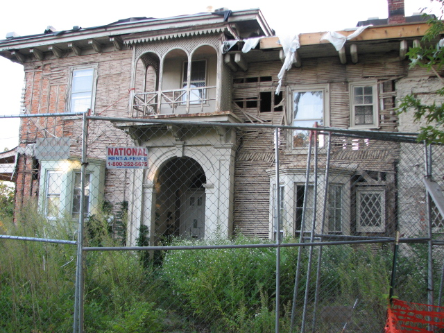 Garrett-Dunn House before fire totally destroyed it.
