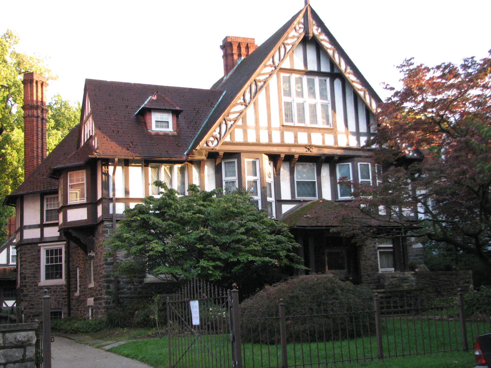 The many faces of Overbrook Farms include stately Tudor Revival homes on Sherwood Road.