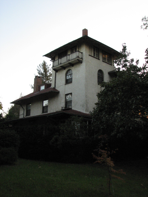 A series of towering houses on the 6300 block of Drexel Road were built in the Italianate style.