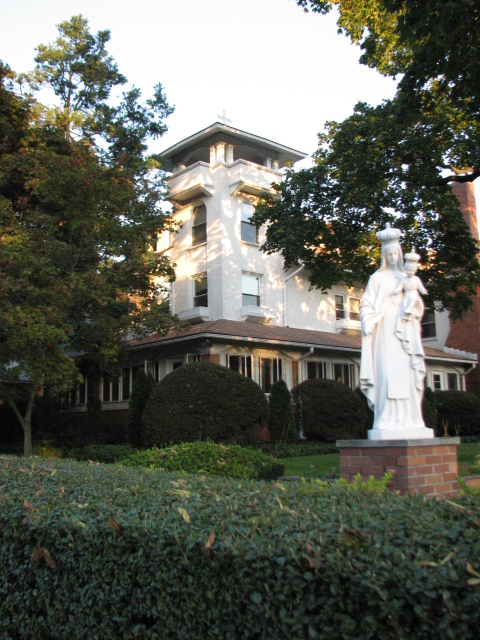 An elegant Italianate structure is now home to the Meredarian Friars' House of Studies.