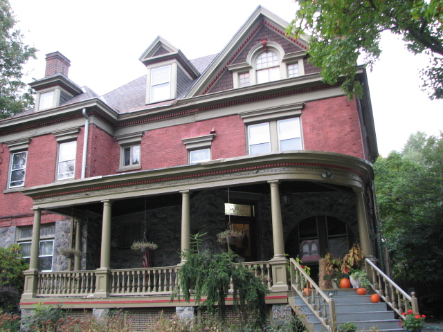 Joseph W. Huston, who designed capitol building in Harrisburg, was architect of this 1896 home on 6000 block of Overbrook Ave.