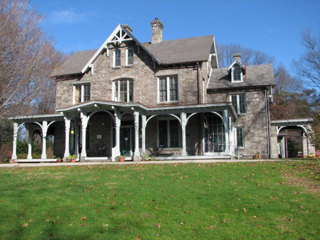 Visitors to Awbury Arboretum are welcomed at the Francis Cope House