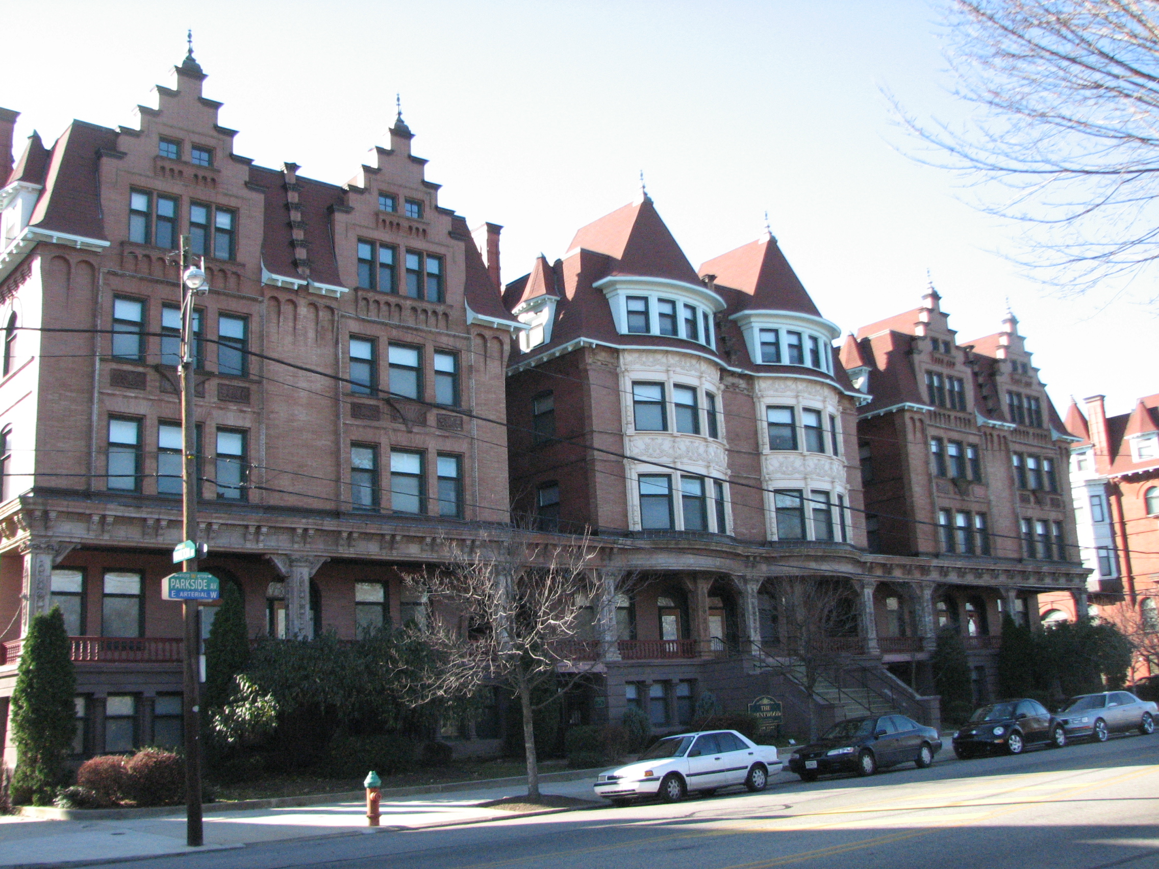 The 110 regal homes of Parkside make up the most recently designated historic district.