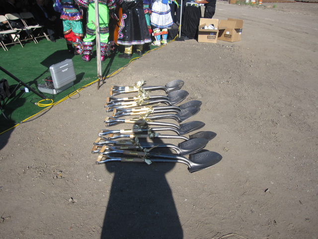 Ceremonial shovels and mummers gowns