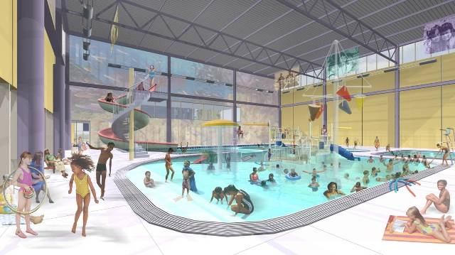 Kroc Center pool: Credit: Andropogon Associates and MGA Partners