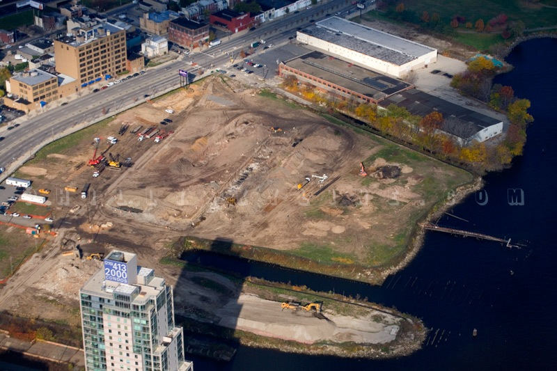 Photo of the SugarHouse Casino site (courtesy of Philly Skyline's Brad Maule)