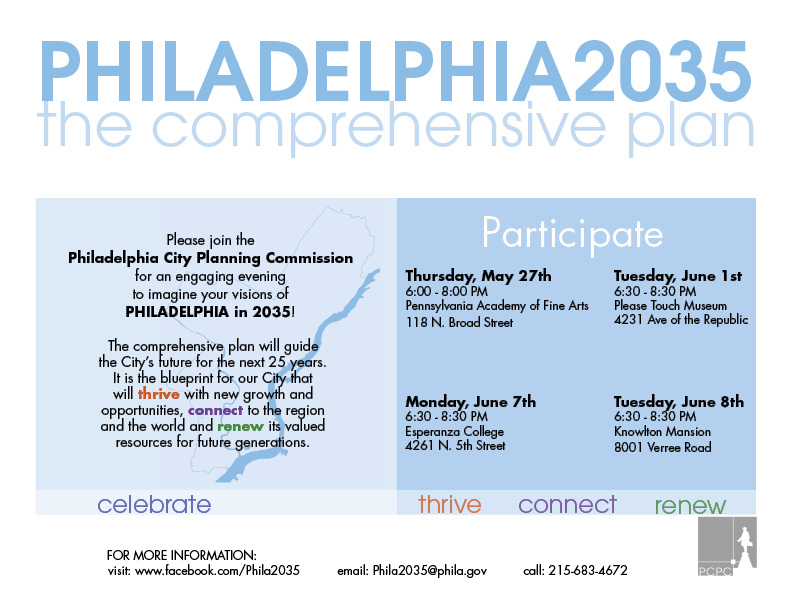 Philadelphia2035 meetings are upcoming