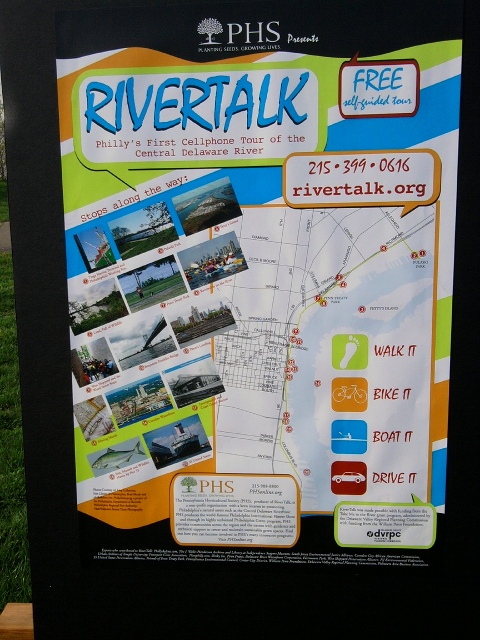 RiverTalk cell phone tour poster