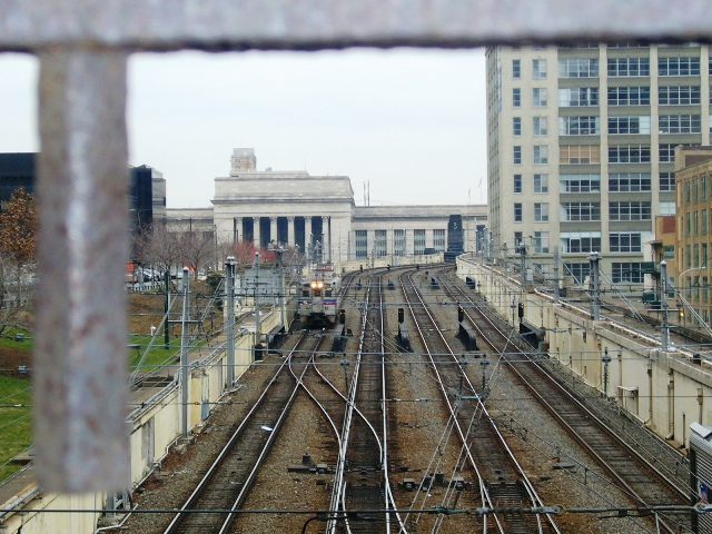 Track between 30th Street Station and Suburban Station
