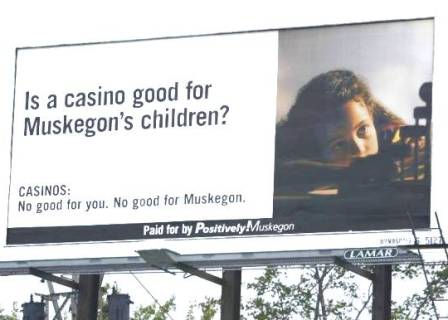 Anti-casino billboard
