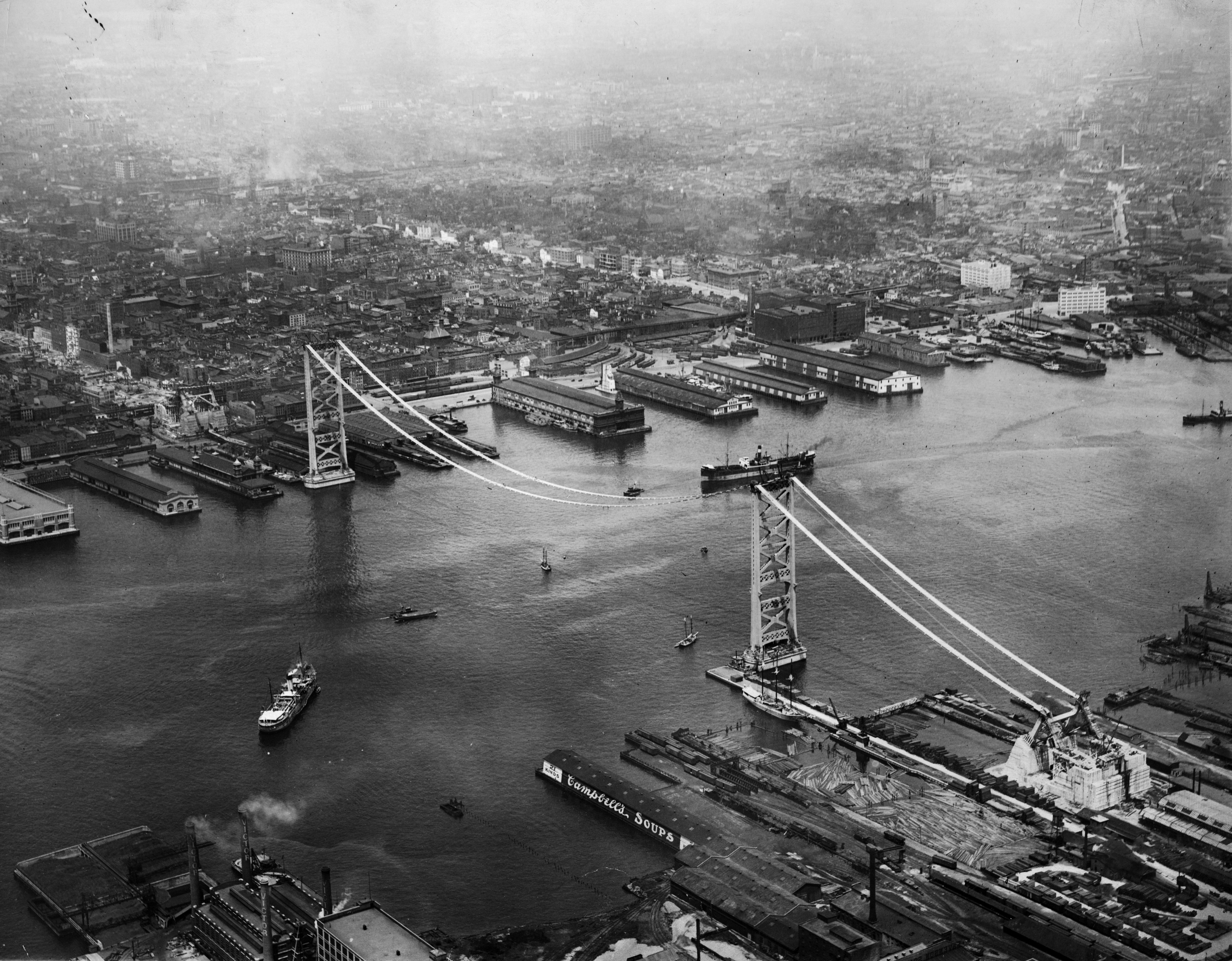 Philadelphia-Camden Bridge Under Construction, 1924. (Image no. 4300)