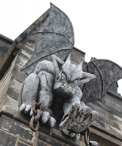 Gargoyles outside Eastern State Penitentiary can mean only one thing: Terror Behind the Walls | flickr user shinya, Creative Commons