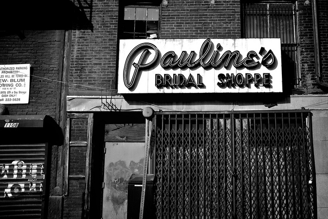 Pauline's Bridal Shoppe | flickr user shrimpcracker, Eyes on the Street flickr group