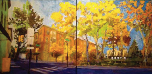 Fitler Square: Early Light (diptych) | Edwin Bronstein