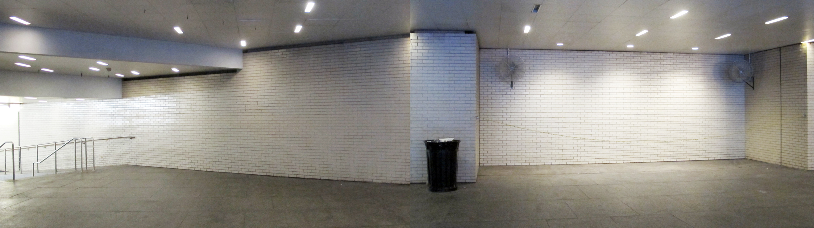 The blank canvas in Centre Square's concourse entrance: Mosaic coming soon.