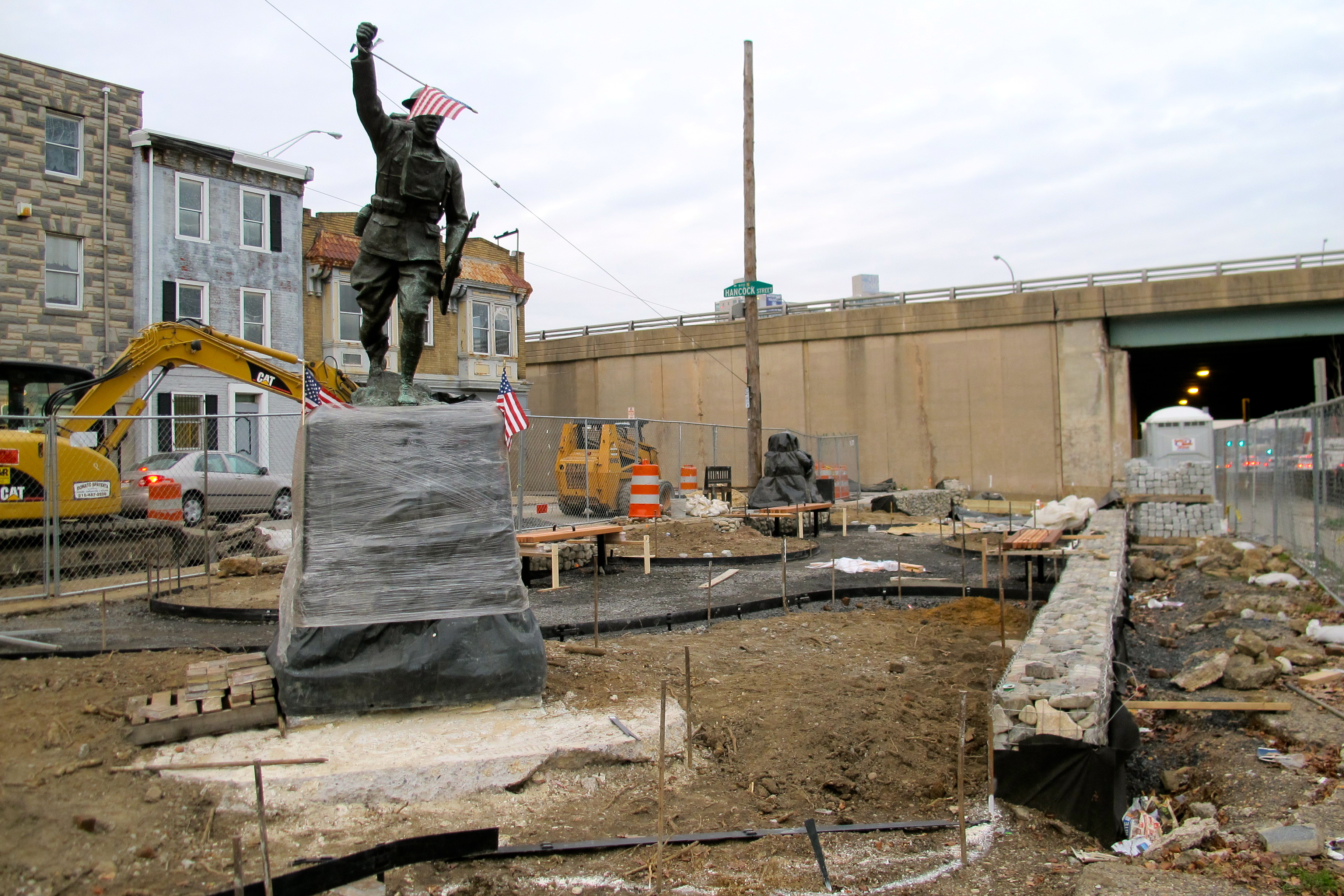 Doughboy Park's new landscape takes shape.