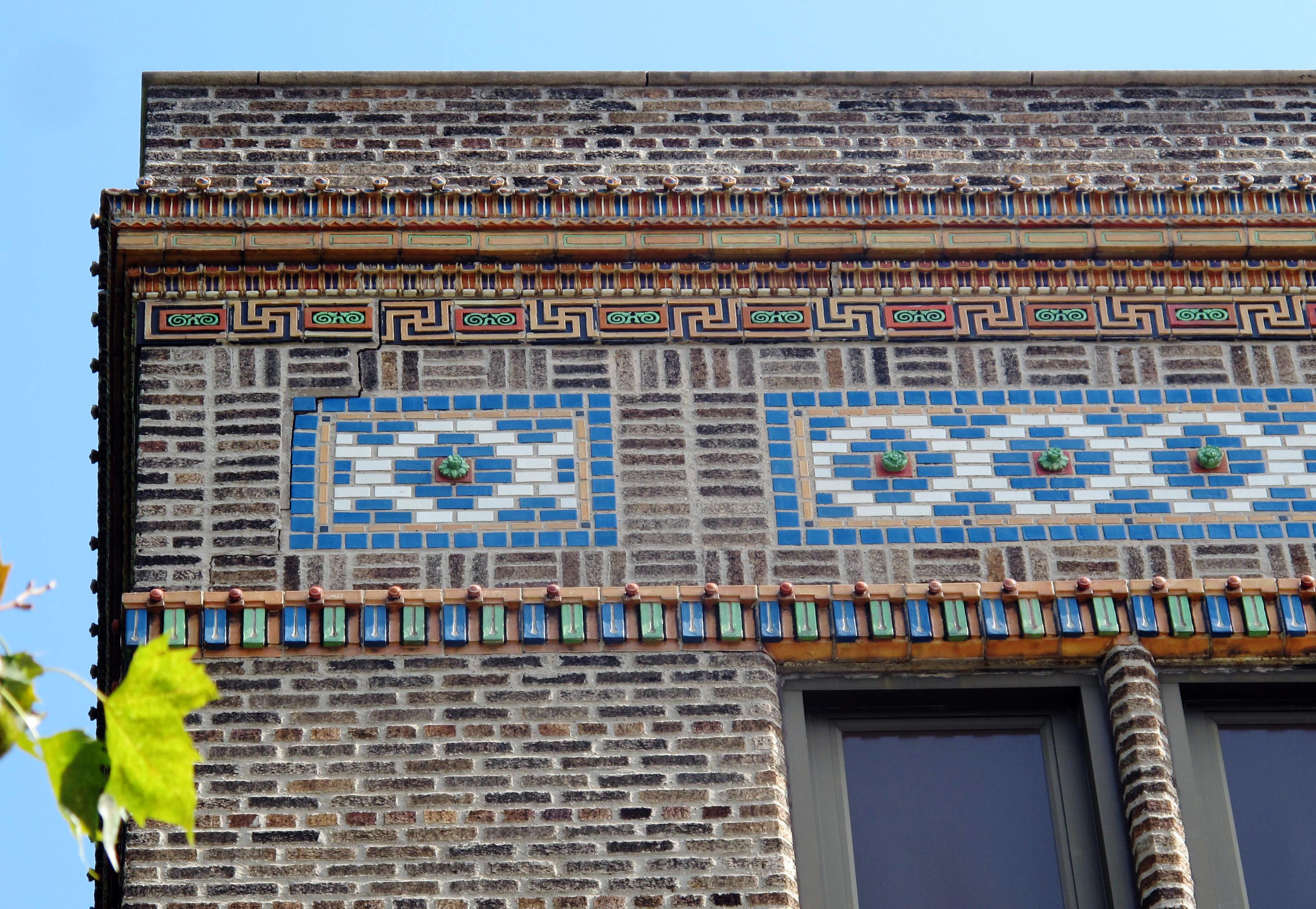 E.M. Stanton Elementary School's decorative cornice. | PlanPhilly