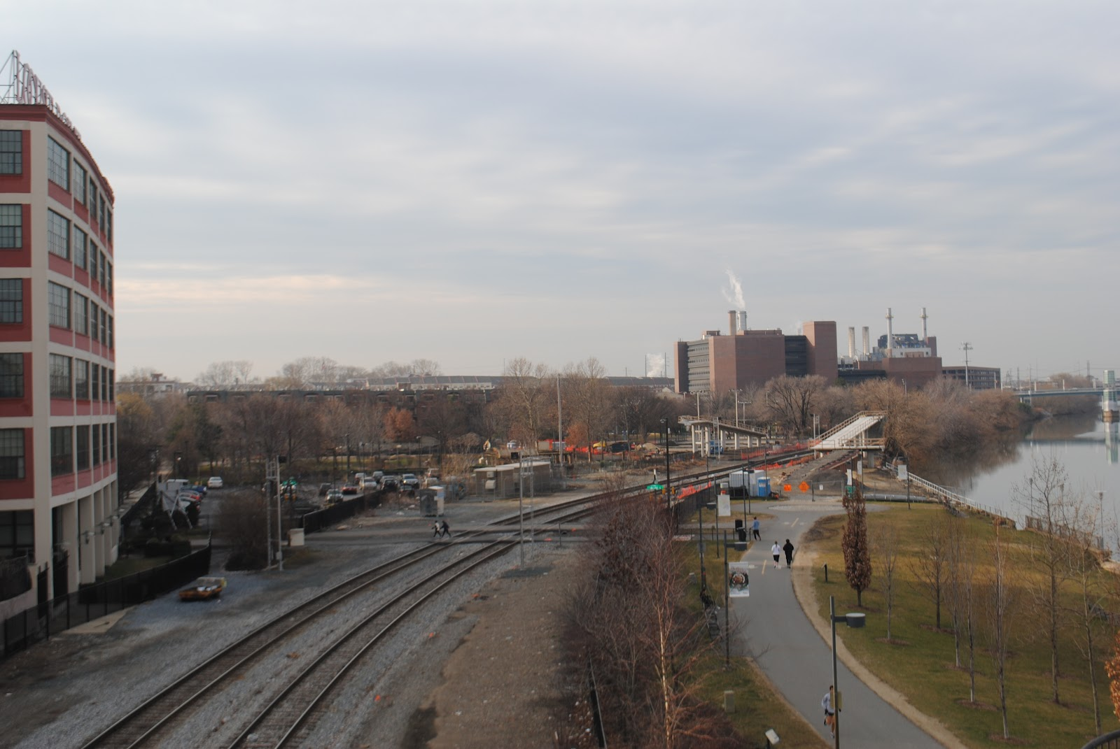 Construction on the Connector Bridge. February 2012 | Bicycle Coalition of Greater Philadelphia