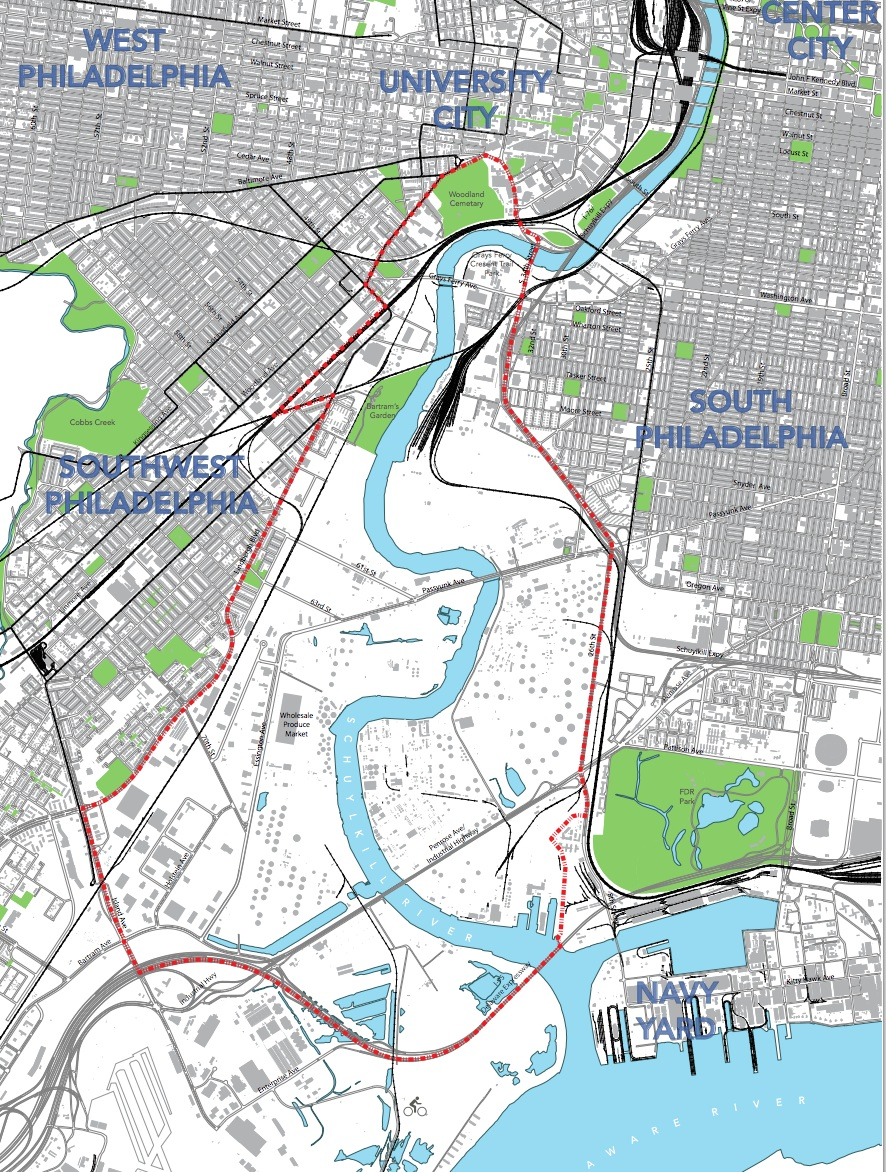 The Lower Schuylkill Master Plan study area has 68% of the city's vacant or underused industrial land. | PIDC
