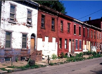 Vacant buildings in South Philadelphia.